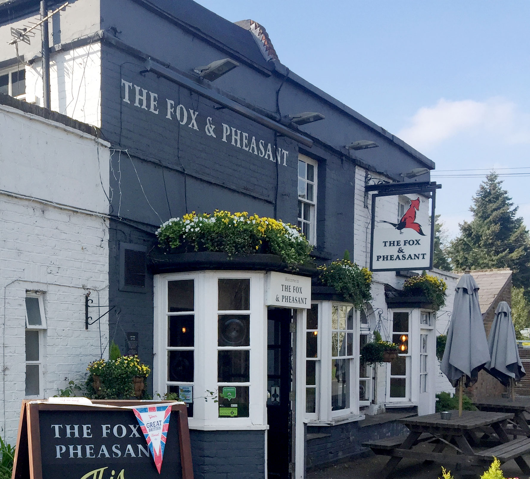 The Fox and Pheasant Pub in Stoke Poges